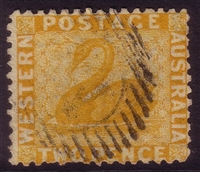 WA SG 55 1864-79 Two Pence yellow