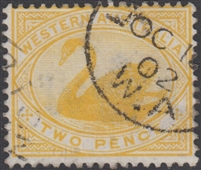 WA SG 113 1898-1907 2d bright yellow