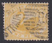 WA SG 113w INVERTED WATERMARK 1898-1907 2d bright yellow