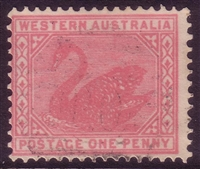 WA SG 117 variety ACSC W8D perf 12.4 1903-1905 1d pale rose