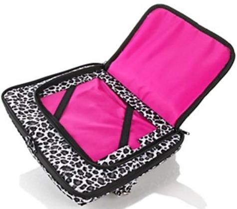 Tote//handbag leopard or snow leopard black Debbee Crossbody Tech Bag