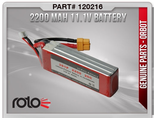 Orbot Battery (2200 MAH3S)