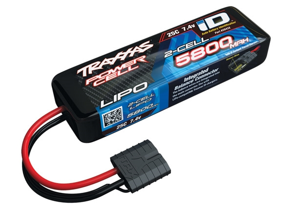 2843X - 5800mAh 7.4v 2-Cell 25C LiPo Battery