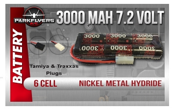 Punch Packs 6-Cell 7.2V 3000mAh NiMH
