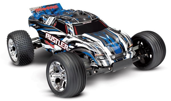 37054-1 Traxxas Rustler 1/10 Scale 2WD Stadium Truck XL-5 RC Car