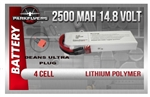 Parkflyers 14.8v, 2500 Mah Lipoly Battery