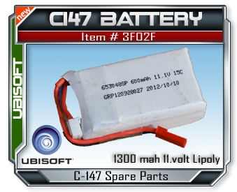 Splinter Cell C147 11.1V 600mAh Lipoly