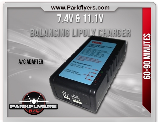 7.4v & 11.1v LiPoly Balancing/Peak Charger with A/C adapter