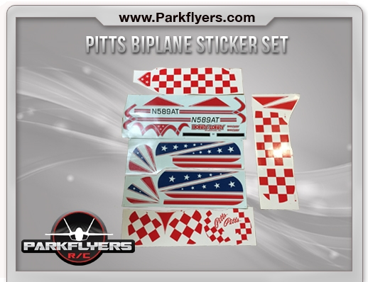 Pitts Biplane Sticker Set