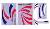 Wing Dragon III Sticker