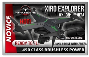 Xiro Explorer Pro  1080P Camera w/3 Axis Gimble