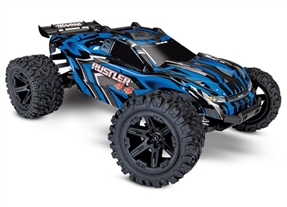 67064-1 - Rustler 4X4: 1/10-scale 4WD StadiumTruck. Ready-To-Race® with TQ 2.4GHz radio system and XL-5 ESC (fwd/rev). Includes: 7-Cell NiMH 3000mAh Traxxas® battery with DC charger