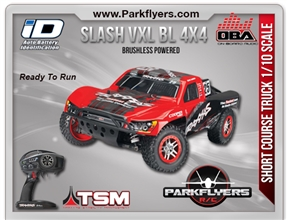 Traxxas 1/10 Slash BL 4X4 LCG RTR w/Audio & TSM