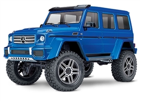82096-4 - TRX-4 Scale and Trail Crawler with Mercedes-Benz G 500 4x4² Body: 1/10 Scale 4WD Electric Trail Truck. Ready-to-Drive® with TQi Traxxas Link Enabled 2.4GHz Radio System, XL-5 HV ESC (fwd/rev), and Titan 550 motor.