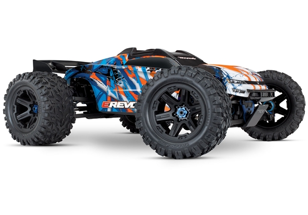E-Revo 2.0 VXL Brushless: 1/10 Scale 4WD Brushless Electric Monster Truck with TQi 2.4GHz Traxxas Link