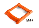 8917T - Skid plate, roof (body) (orange)/ 3x12mm CS (4