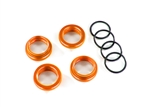 8968A - Spring retainer (adjuster), orange-anodized aluminum, GT-Maxx® shocks (4) (assembled with o-ring)