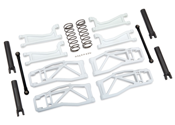 Suspension kit, WideMaxx, white(includes front & rear suspension arms, front toe links, rear shock springs)