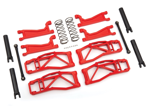 Suspension kit, WideMaxx, red (includes front & rear suspension arms, front toe links, rear shock springs)