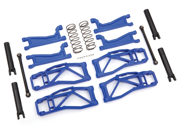 Suspension kit, WideMaxx, blue (includes front & rear suspension arms, front toe links, rear shock springs)