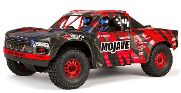 ARA7604V2T2 1/7 MOJAVE 6S V2 4WD BLX Desert Truck with Spektrum Firma RTR, Red/Black