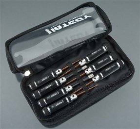 Integy Mini Tool Set 7pcs w/Carrying Bag Black