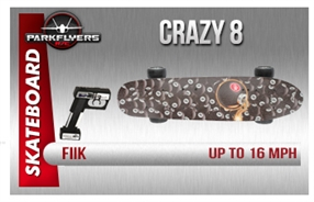 "Fiik ""Crazy 8"" Electric RC Skateboard High Performance"