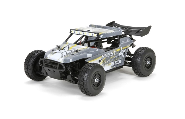 1/18 Roost 4WD Desert Buggy Brushed RTR, Grey/Yellow (ECX01005T2)