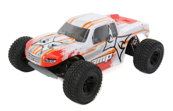 1/10 AMP MT 2WD Monster Truck Brushed RTR, White/Orange (ECX03028T1)