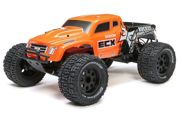 1/10 Ruckus 2WD Monster Truck Brushed RTR, Orange (ECX03431T2)