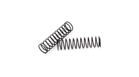 Front Spring Black, Medium (2): All 1/10 2WD AMP MT