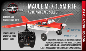 Maule M-7 1.5m RTF with DXE radio