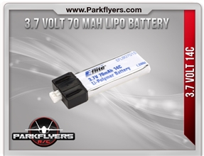 3.7 Volt 70 MAH LIPO Battery