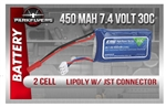 450 MAH 7.4 Volt JST connector