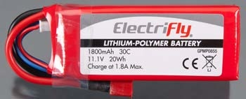 Switch ElectriFly LiPo 3S 11.1V 1800mAH 30C