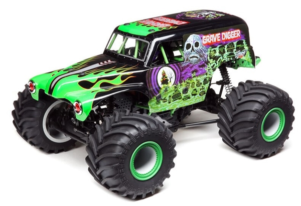 LOS04021T1 LMT 4WD Solid Axle Monster Truck RTR, Grave Digger