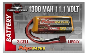 Punchpacks Lipo 11.1V 1300mAh EP Battery Pack