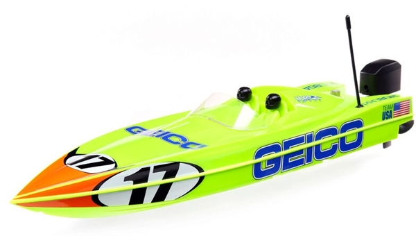 "17"" Power Boat Racer Deep-V RTR Miss Geico and Lucas Oil"