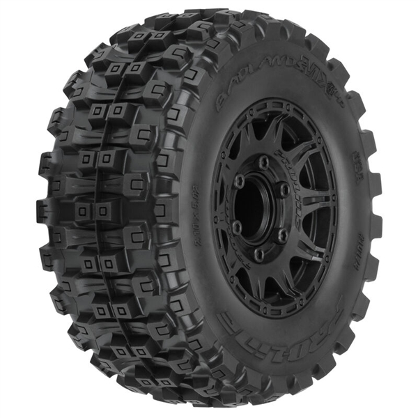 "Badlands MX28 HP 2.8"" Belted Mounted Raid Tires, 6x30 F/R (2)"