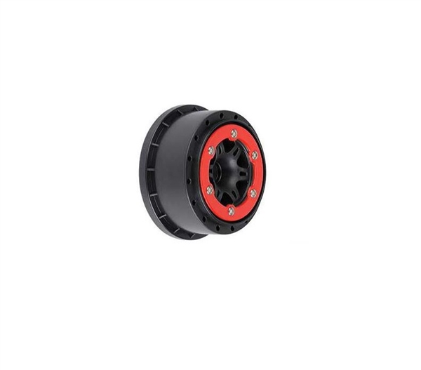 Sixer 2.2/3.0 Red/Black Bead-Loc Fr Wheels(2):SLH (PRO271404)