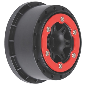 Sixer 2.2/3.0 Red/Black Bead-Loc R Wheels(2):SLH (PRO271504)