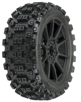 Badlands MX M2 1/8 MTD Mach 10 Black Wheels F/R