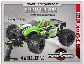 R18MT 4X4 PRO READY TO RUN MONSTER TRUCK