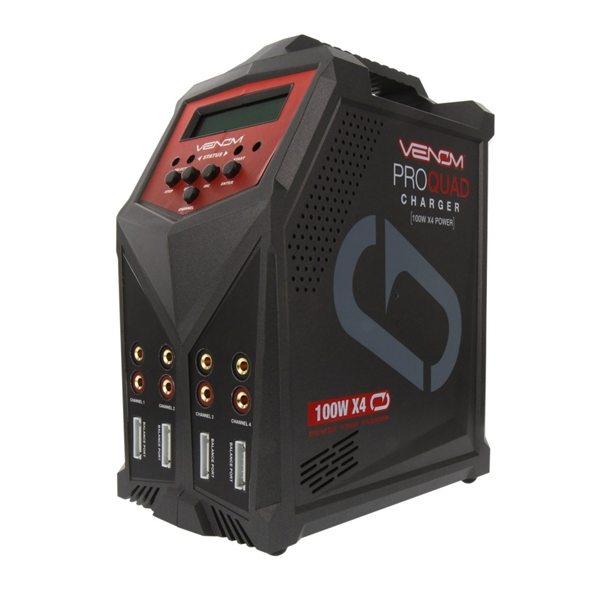 Pro Quad 100W 7A 4-Port AC/DC Battery Charger (VNR0686)