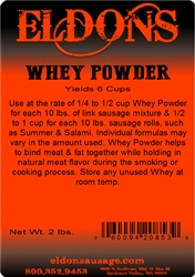 Eldon's Whey Powder Sausage and Meat Binder