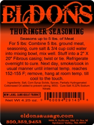 Thuringer  Smoked Sausage Seasoning