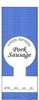 Pork Sausage 1lb Poly Meat Bags - 100 count