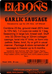 Eldon's Garlic Sausage Seasoning