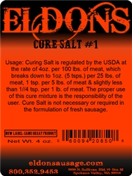Curing Salt (Prague Powder #1) 4 oz.