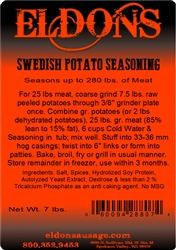 Swedish Potato Sausage Seasoning - 7# Bag